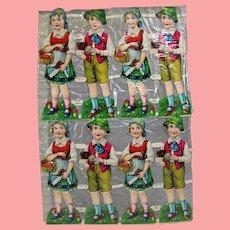 Vintage Paper Doll German Scrap Hansel & Gretel! Unused