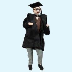 Vintage Klumpe Roldan Cloth Graduate Graduation Doll!