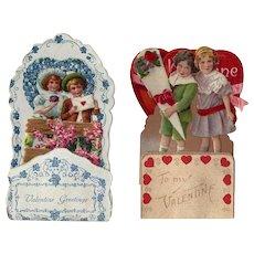 Gorgeous Antique Pop Up Die Cut German Valentines!