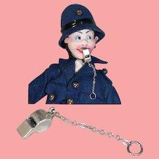 Vintage Mini Doll Sized Metal Whistle!