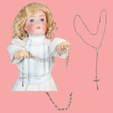 Vintage Doll Size Child Rosary! Lovely Glass Beads!