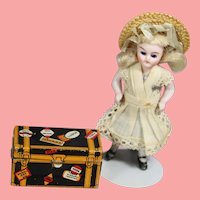 Darling Vintage MARX Tin Litho Doll Travel Trunk!