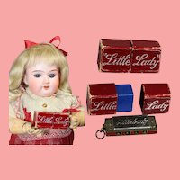 Vintage Doll Sized LITTLE LADY Germany Harmonica in Orig Box!