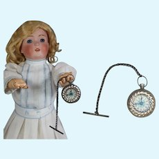 Antique Doll German Pocket Watch for French Fashion or Bebe Doll!