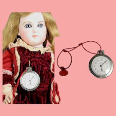Vintage Toy Pocket Watch Fob for Your Doll!