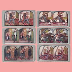 6 Antique 1906 Stereoview Series Cards Dentist Dentistry