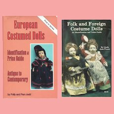 2 Doll Reference Books! European Folk Foreign Costume Dolls!