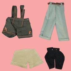 Antique & Vintage Boy Doll Clothes! Slacks Shorts Lederhosen!