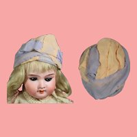 "Antique Flapper Doll Turban Hat! 7"" Head Circumf"