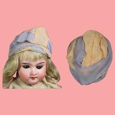 """Antique Flapper Doll Turban Hat! 7"""" Head Circumf"""