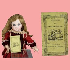"""Antique 1860s Mini Doll Size Book """"Rhymes for the Nursery"""" Chapbook!"""