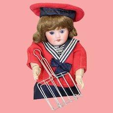 Antique c1910s German Roombox Doll Fryer Metal Griller!