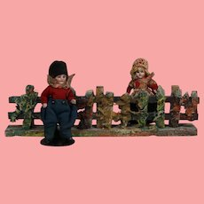 Antique German Doll Elastolin Putz Fence