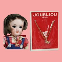 Vintage French Doll Necklace in Orig Package! Fits Bleuette!