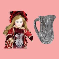 Lovely VIntage Doll Cut Glass Crystal Mini Pitcher!