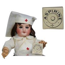 Antique French Mini Aspirin Medicine Box for Nurse Doll! LAST ONES!