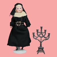 Antique French Doll Candelabra for Altar or Dollhouse!