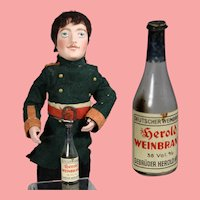 Antique German Doll Size Wine Bottle!