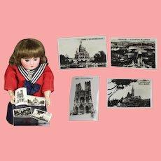 4 Vintage Doll Size France Photos! Paris Versailles Marseilles