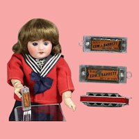 Vintage Mini Doll Sized Harmonica w Political Advertisement!