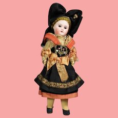 Antique French Bisque Closed Mouth Alsace Doll SFBJ 60!