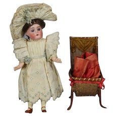 Delightful! Antique Sewing Notion Basket - Perfect Doll Size!