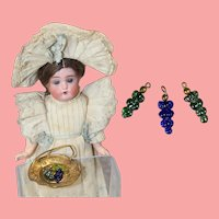 Antique Czech Glass Mini Doll Dollhouse Grapes!
