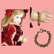 Antique French Metal Doll Bracelet!