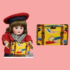 Old Store Stock Doll Sized Candy Container Suitcase!