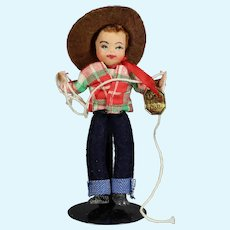 "Vintage Alma Leblanc TINY TOWN Doll ""Cowboy"" w Tag!"