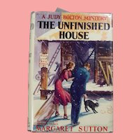"Vintage HBDJ Judy Bolton Mystery ""The Unfinished House"" Margaret Sutton Book!"