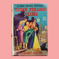 "Vintage 1950s HBDJ Judy Bolton Mystery ""Seven Strange Clues"" Margaret Sutton Book!"