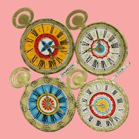 Antique German Die Cut Pocket Watch Faces for Doll Projects!