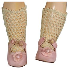 Beautiful Crochet Doll Socks for Your Bisque Doll!