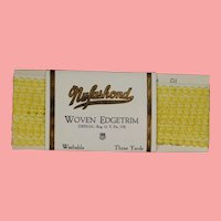 Vintage MINT Pack Dainty Yellow Woven Edgetrim Trim for Doll Clothes!