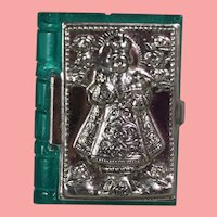 Doll Size! 1940s US Zone Germany Mini Bible Box Repousse Infant of Prague!