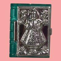 Doll Size! 1940s US Zone Germany Mini Bible Box Repousse Infant of Prague!