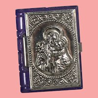 Doll Sized! 1940s US Zone Germany Bible Rosary Box Saint Frances Assisi
