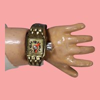 Old Store Stock Vintage Doll Watch! Fits Bleuette Cissy Etc!