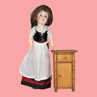 Antique French Faux Bamboo Doll Nightstand!