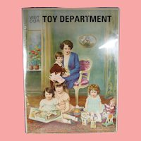 Antique 1920s Original Litho Toy Department Poster Toys & Doll!