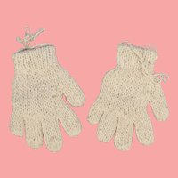 Lovely Vintage Cream Colored Doll Gloves!