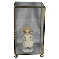 Vintage Small Glass Display Case for your Mignonette All Bisque Doll!