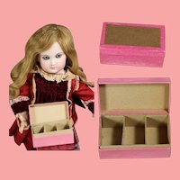 Antique French Dark Pink Box for Doll Accessories!