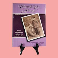Beautiful Book! Antique Photographs of Children with Animals & Pets!