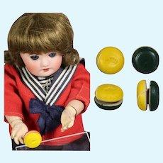 Mint! Darling Vintage Mini Doll Sized Wooden Yo-Yo JAPAN