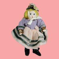 """Vintage 6"""" Madame Alexander Cloth Little Shaver Doll!"""