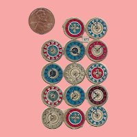 Antique TINY! German Die Cut Clock Watch Faces for Doll Projects!