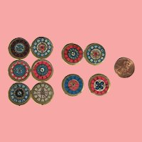 Antique TINY German Die Cut Pocket Watch Clock Faces for Doll Projects!