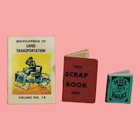 3 Mini Vintage Doll Sized Books for Dolly's Library!